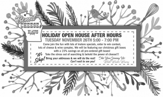 Holiday Open House After Hours