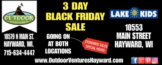 3 Day Black Friday Sale