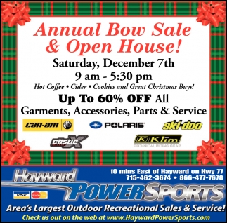 Annual Bow Sale & Open House
