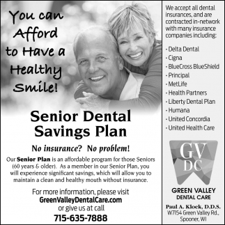 Senior Dental Health Benefit Program