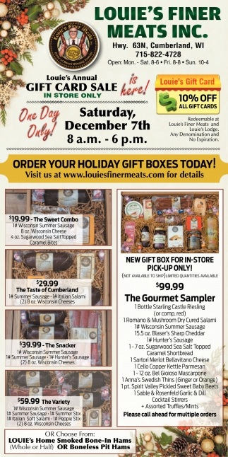 Order your holiday gift boxes today!