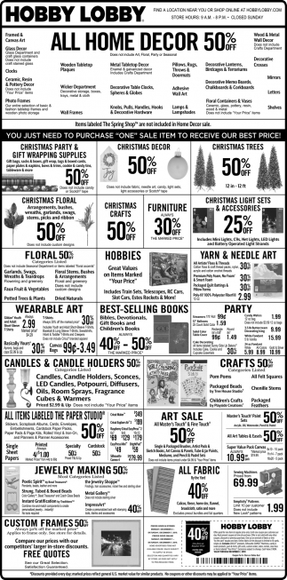 All Home Decor 50% off