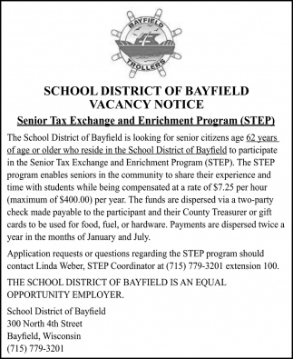 Senior Tax Exchange and Enrichment Program