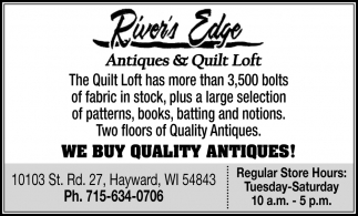 We buy quality antiques!