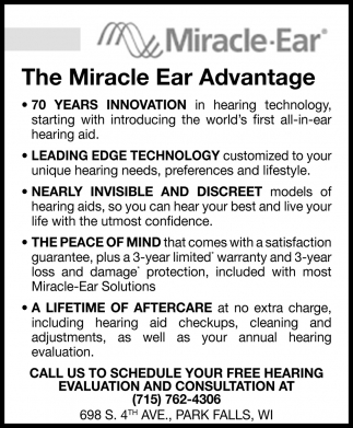 The Miracle Ear Advantage