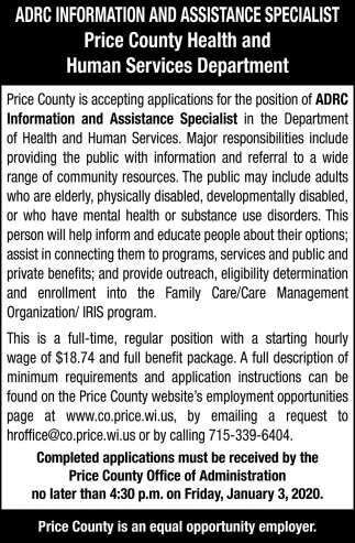 ADRC Information and Assistance Specialist