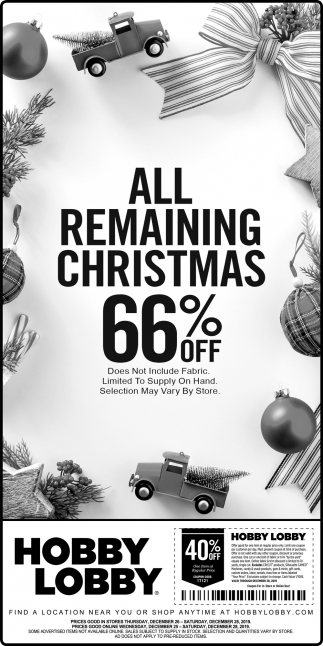 All Remaining Christmas 66% off