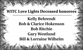 WITC Love Lights Deceased honorees