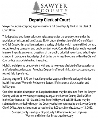 Deputy Clerk of Court