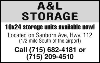 10x24 Storage Units Available Now