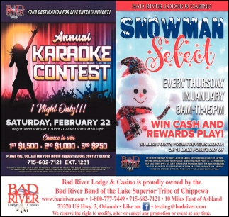 Annual Karaoke Contest / Snowman Select
