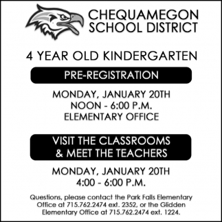 4 Year Old Kindergarten Pre-Registration