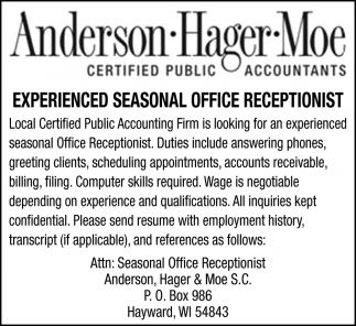 Office Receptionist