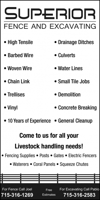 Come to us for all your Livestock handling needs!