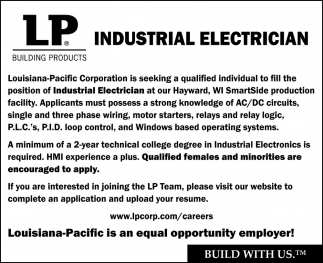 Industrial Electrician