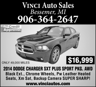 2014 Dodge Charger SXT Plus Sport PKG. AWD