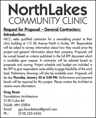 Request for Proposal - General Contractors