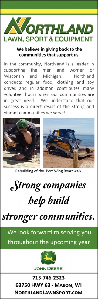 Strong companies help build stronger communities