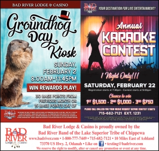 Groundhog Day Kiosk / Annual Karaoke Contest