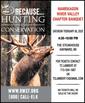 Namekagon River Valley Chapter Banquet
