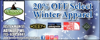 20% off Select Winter Apparel