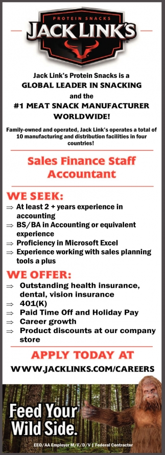Sales Finance Staff Accountant