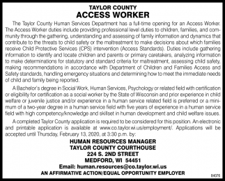Access Worker