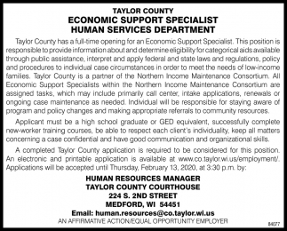 Economic Support Specialist