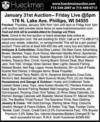 January 31st Auction