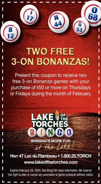 Two Free 3-On Bonanzas!