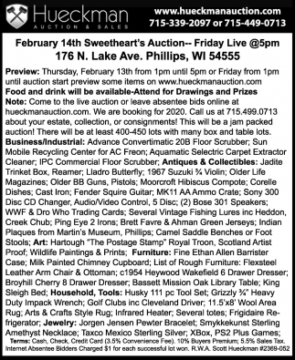 February 14th Sweetheart's Auction