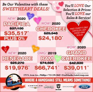 Be Our Valentine with these Sweetheart Deals!