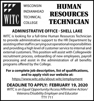 Human Resources Technician
