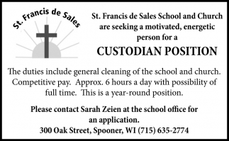 Custodian Position