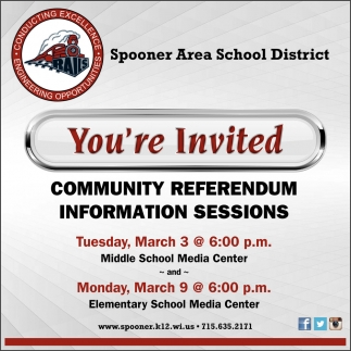 Community Referendum Information Sessions