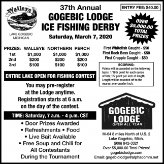 Gogebic Lodge Ice Fishing Derby