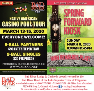 Native American Casino Pool Tour / Spring Forward Kiosk