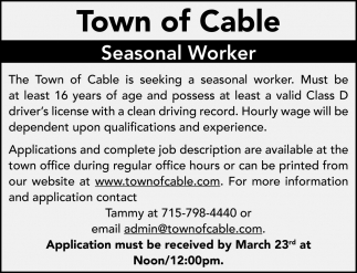 Seasonal Worker