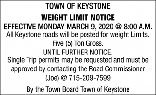 Weight Limit Notice