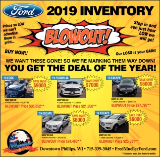 Ford 2019 Inventory Blowout!