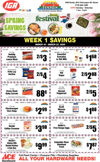 Week 1 Savings