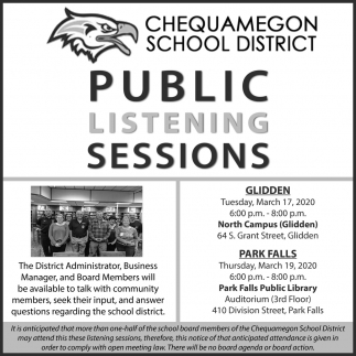 Public Listening Sessions