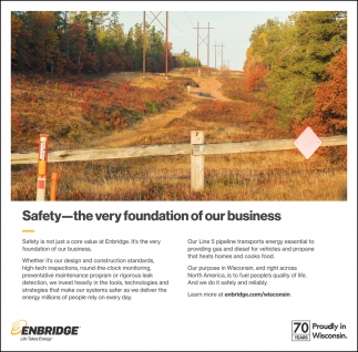 Safety - the Very Foundation of Our Busines