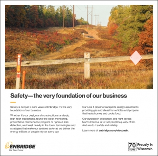 Safety - The Very Foundation of Our Business