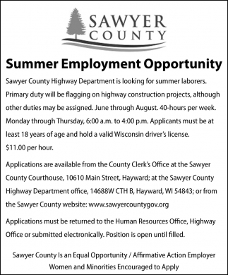 Summer Employment Opportunity
