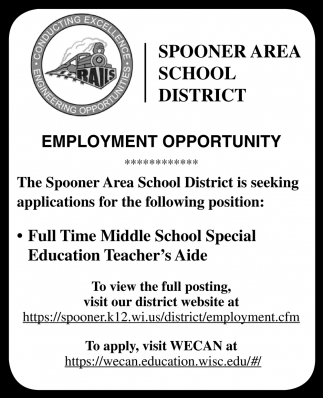 Full Time Middle School Special Education Teacher's Aide