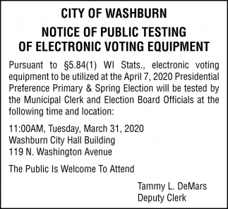 Public Testing of Electronic Voting Equipment