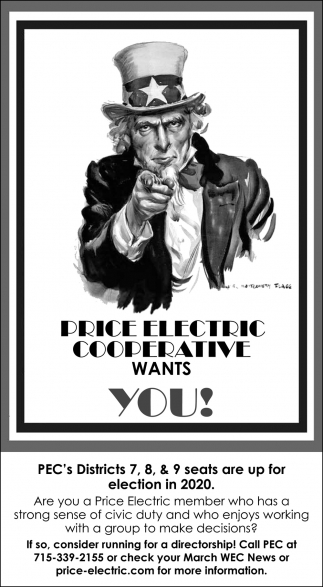 Price Electric Cooperative Wants You!
