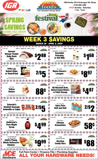 Week 3 Savings