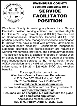 Service Facilitator Position